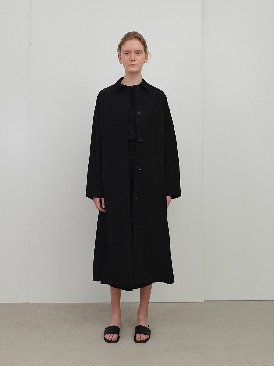 summer mac coat  (black)