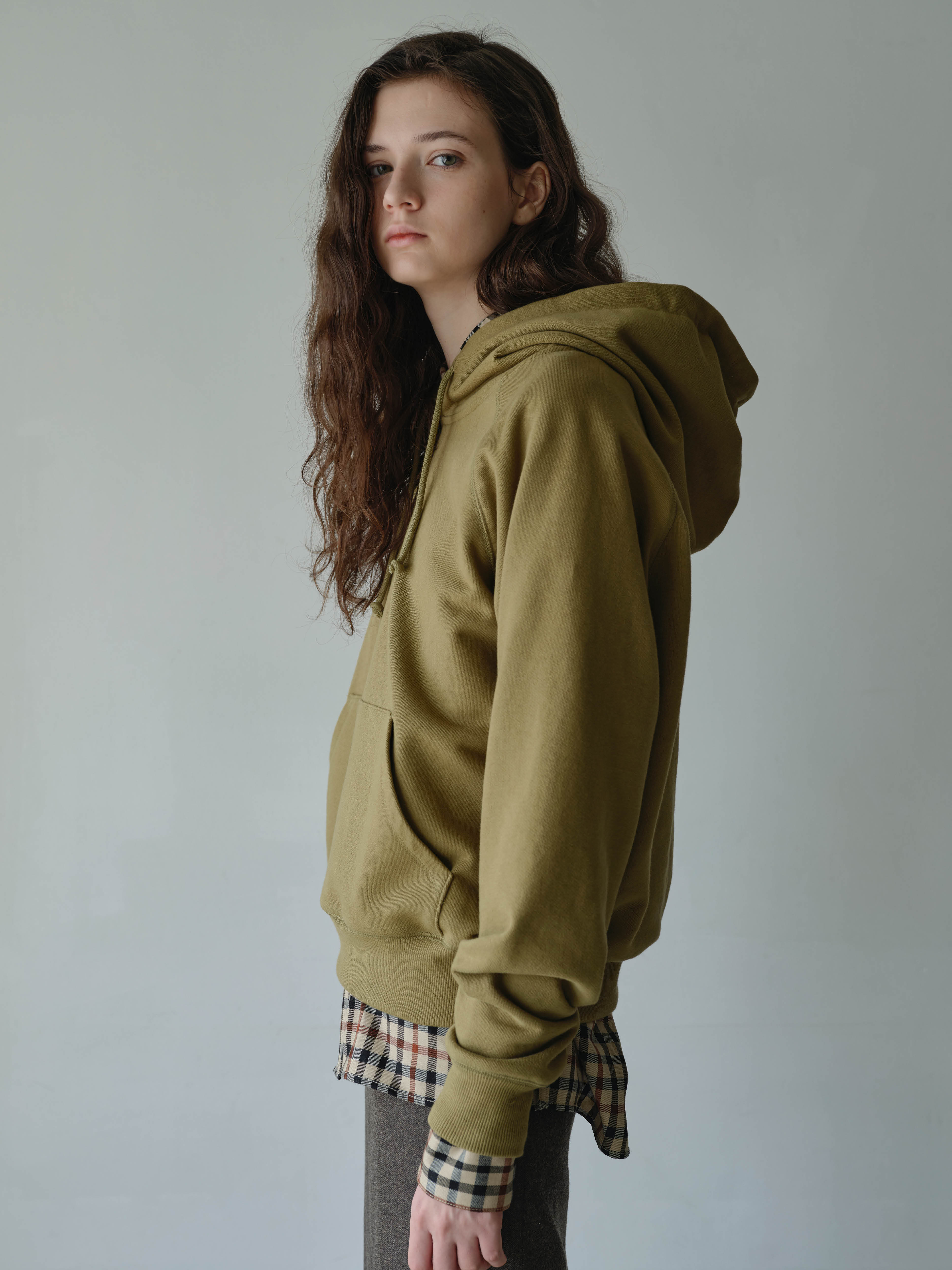 essential cotton hoodie  (olive green)11/2 예약발송