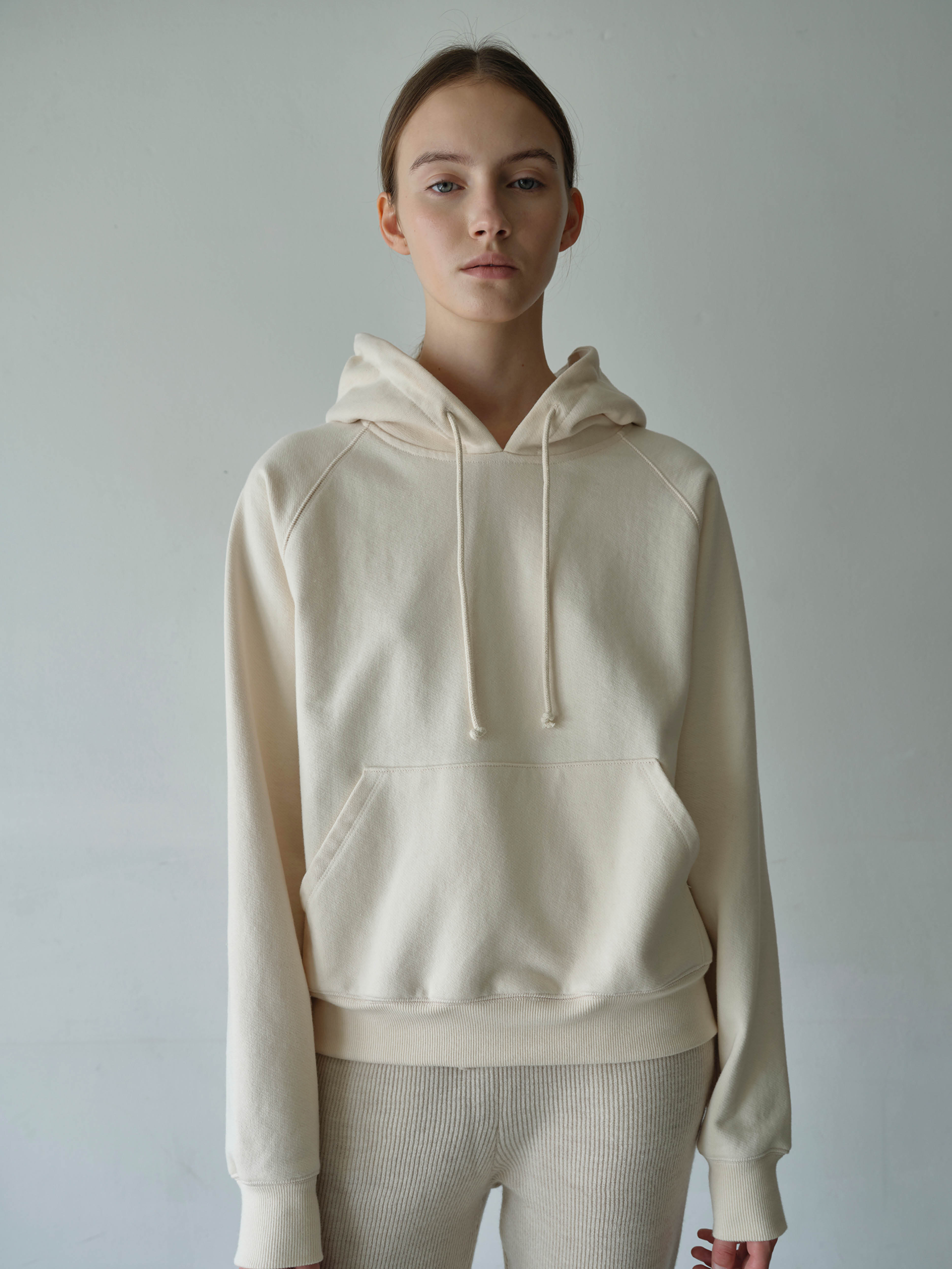 essential cotton hoodie  (ivory)11/2 예약발송